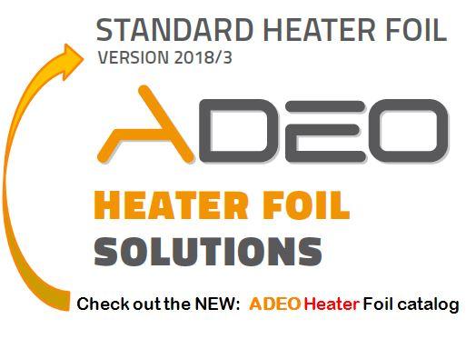Our standard heater foil shapes