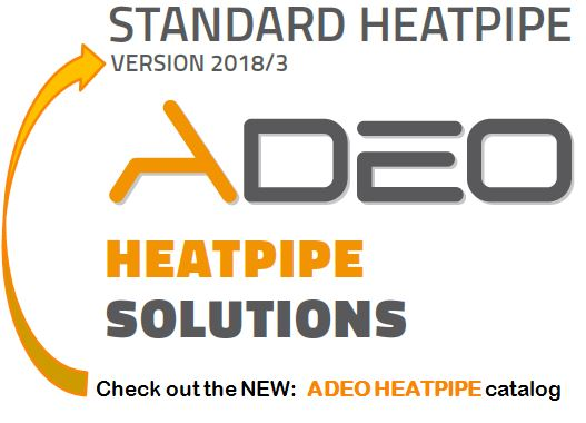 Our standard lenght heatpipe catalog